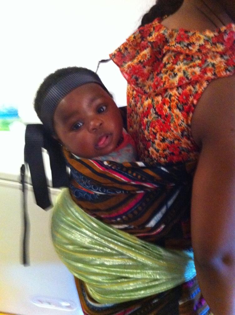 Traditional Nigerian (Yoruba) 'wrapper' and 'oja'