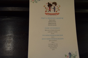 Quirky wedding program :D