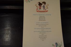 Quirky wedding program :D