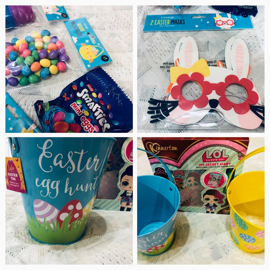 Easter egg hunt supplies from Asda and Iceland